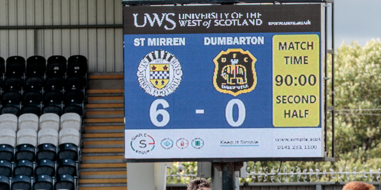 Match Report: St Mirren 6-0 Dumbarton