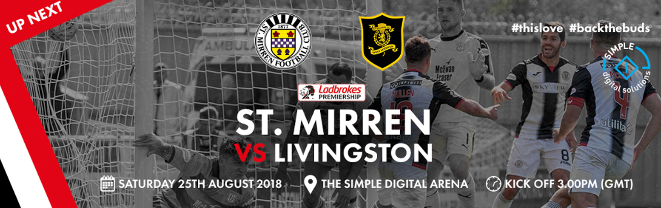 St Mirren vs Livingston: Matchday Info (25th Aug)