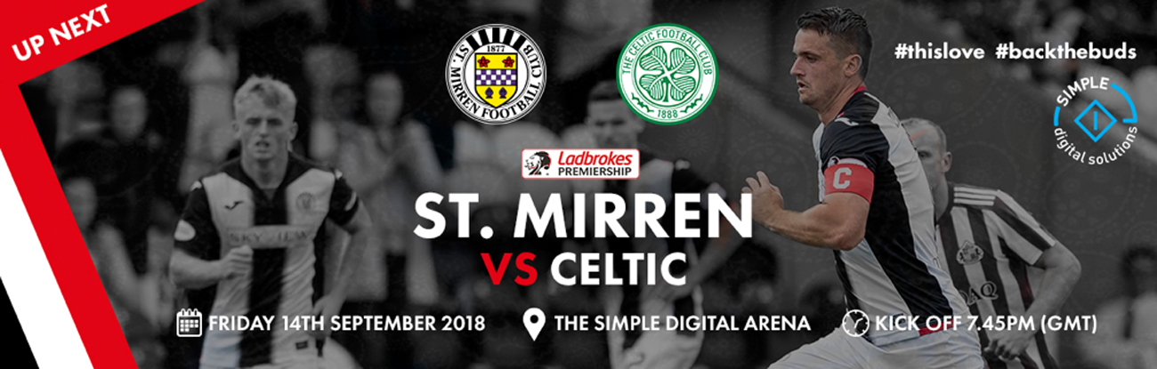 St Mirren vs Celtic: Matchday Info (14th Sep)