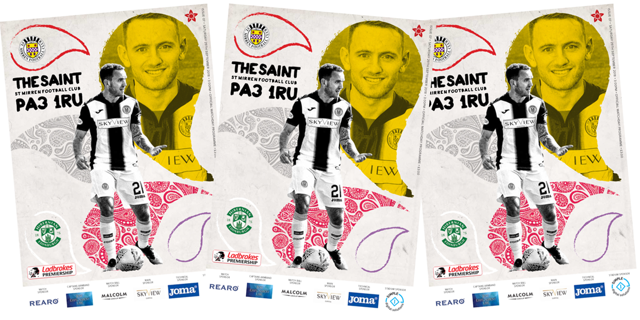 Match Day Programme: St Mirren vs Hibernian (29th Sep)