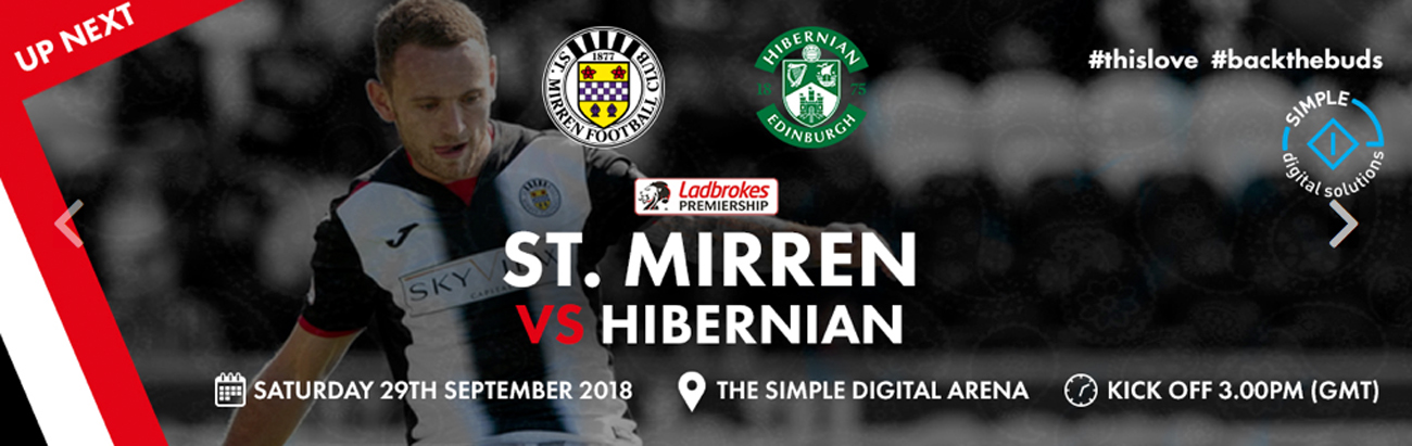 St Mirren vs Hibernian: Matchday Info (29th Sep)