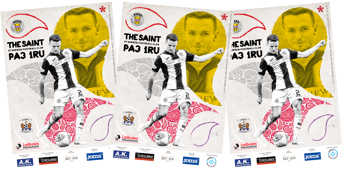 Match Day Programme: St Mirren vs Kilmarnock (20th Oct)
