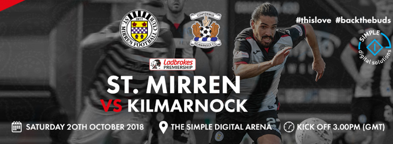 St Mirren vs Kilmarnock: Matchday Info (20th Oct)