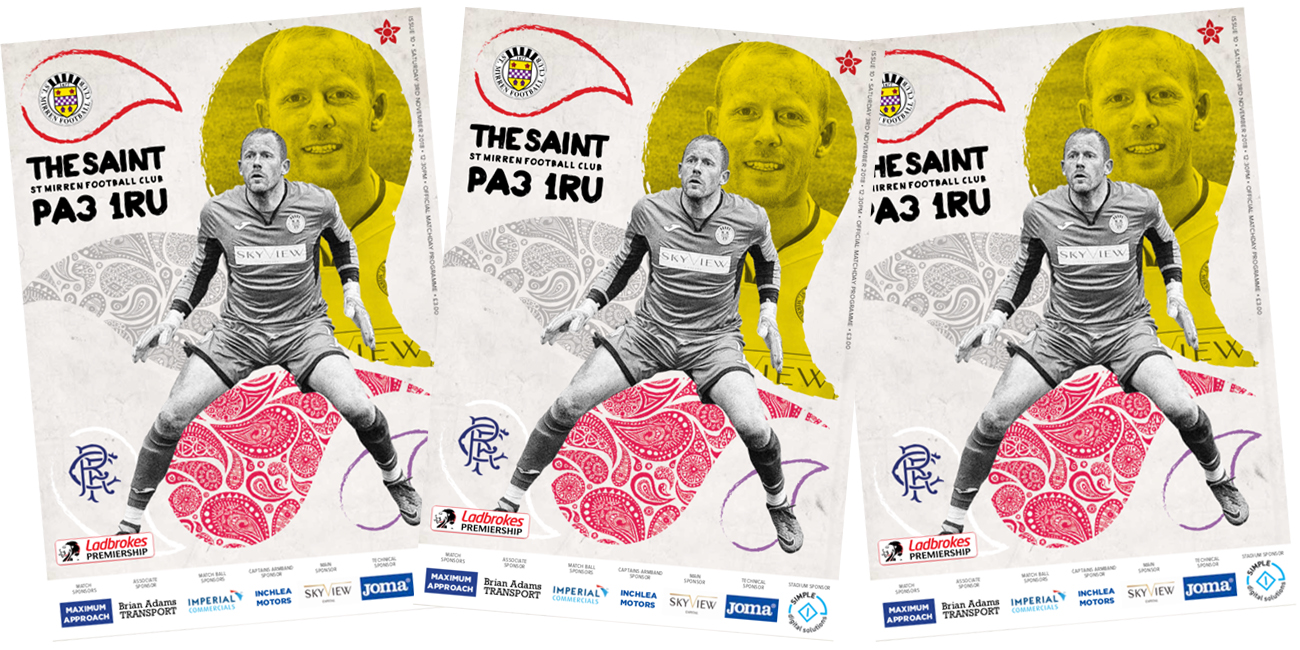 Match Day Programme: St Mirren vs Rangers (3rd Nov)