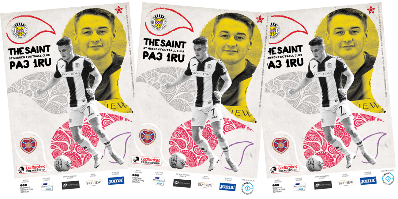 Match Day Programme: St Mirren vs Hearts (24th Nov)