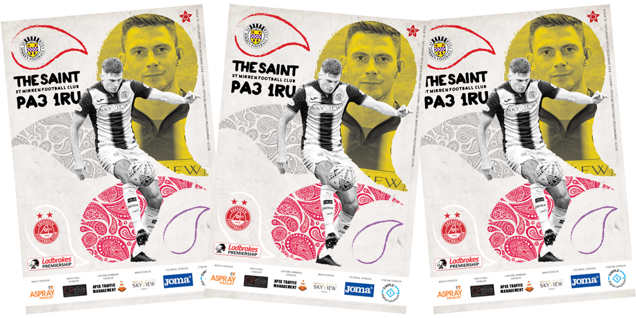 Match Day Programme: St Mirren vs Aberdeen (15th Dec)