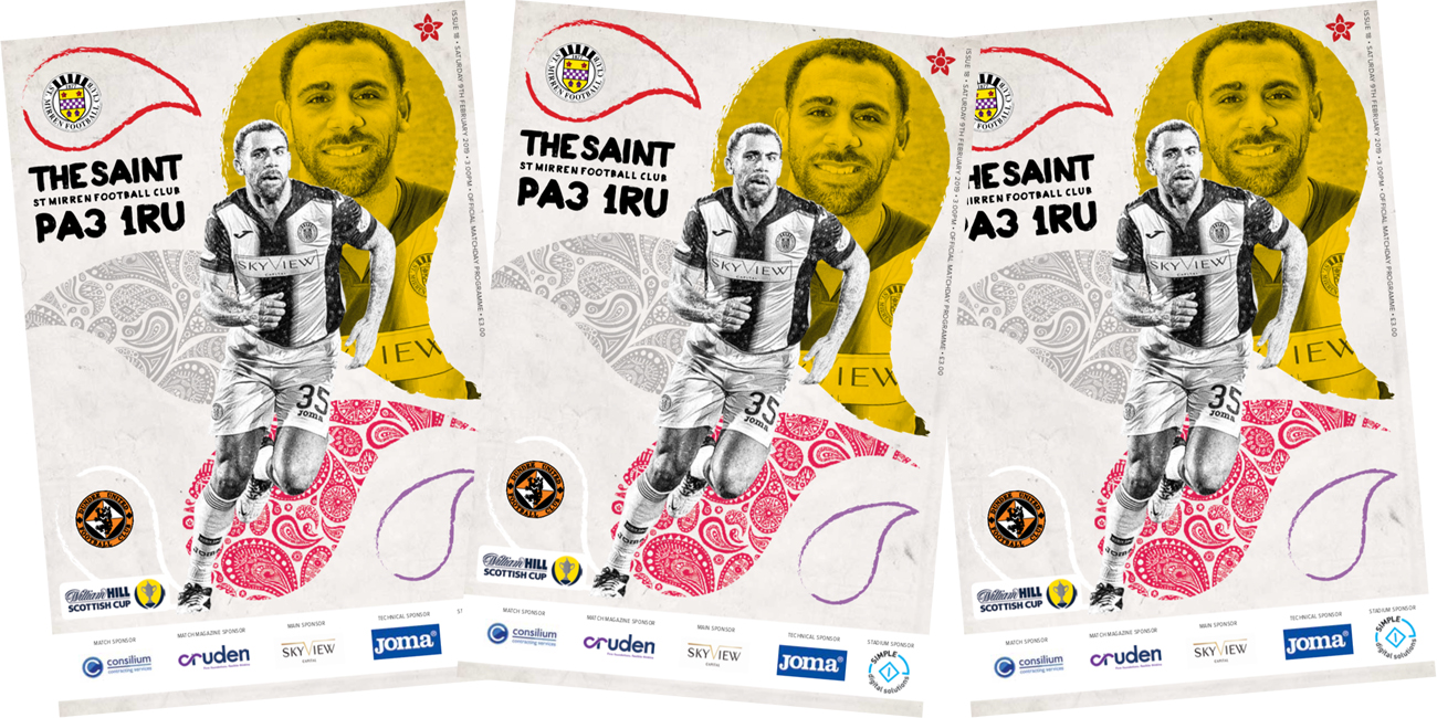 Match Day Programme: St Mirren vs Dundee United (9th Feb)