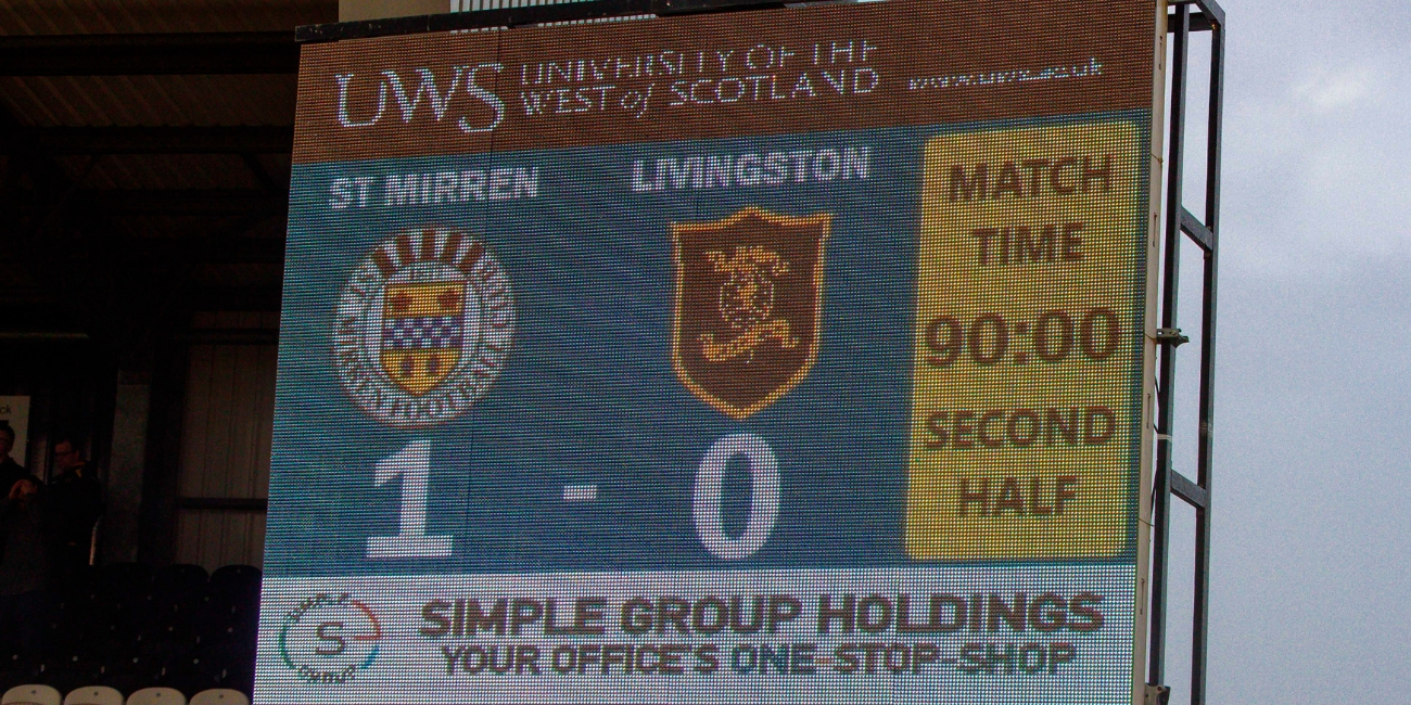 Match Report: St Mirren 1-0 Livingston