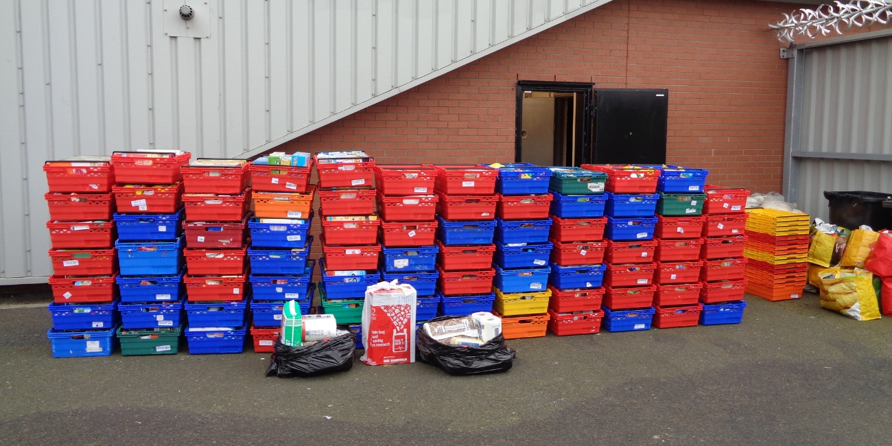 Supporters provided an incredible 1,026.19kg of food at a foodbank collection