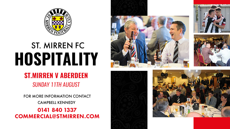 Hospitality: Aberdeen (11th August)