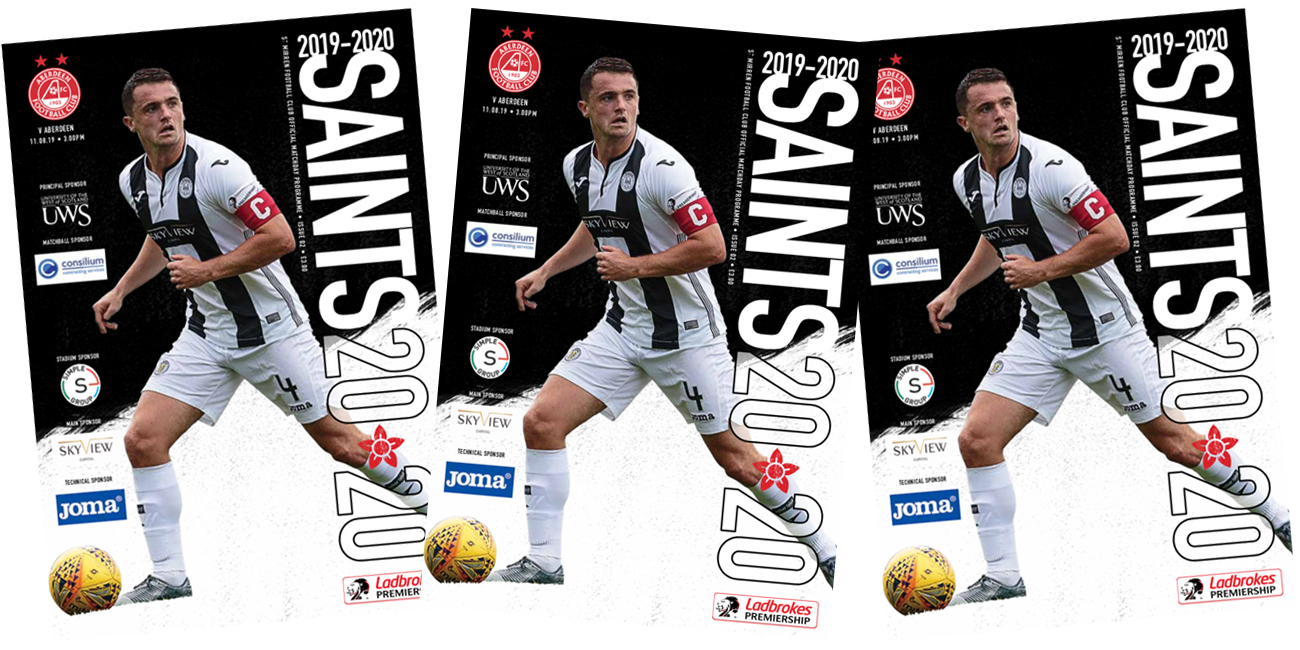 Programme: St Mirren v Aberdeen (11th Aug)