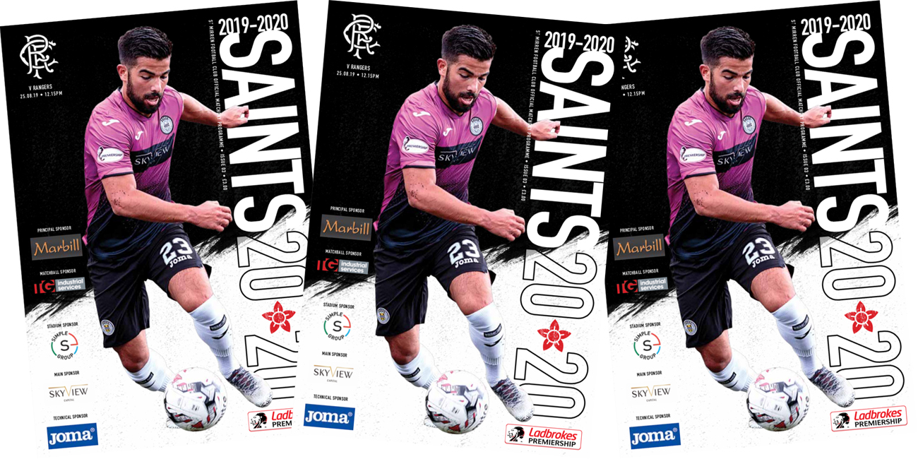 Programme: St Mirren v Rangers (25th Aug)
