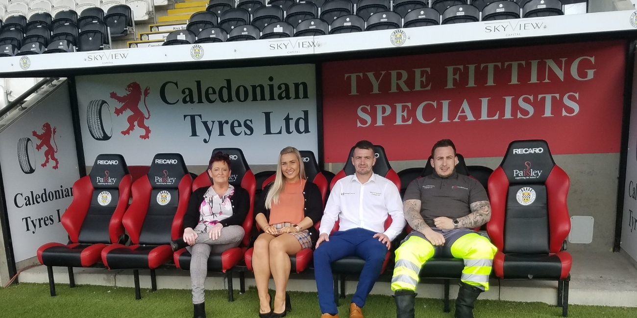 St Mirren delighted to welcome Caledonian Tyres as new dugout sponsors