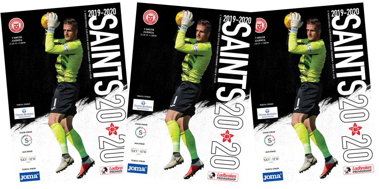 Programme: St Mirren v Accies (21st Sep)