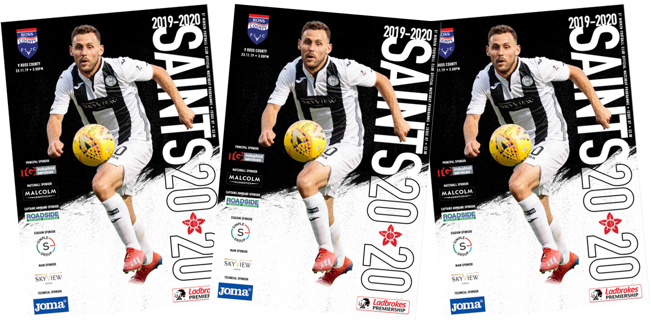 Programme: St Mirren v Ross County (23rd Nov)