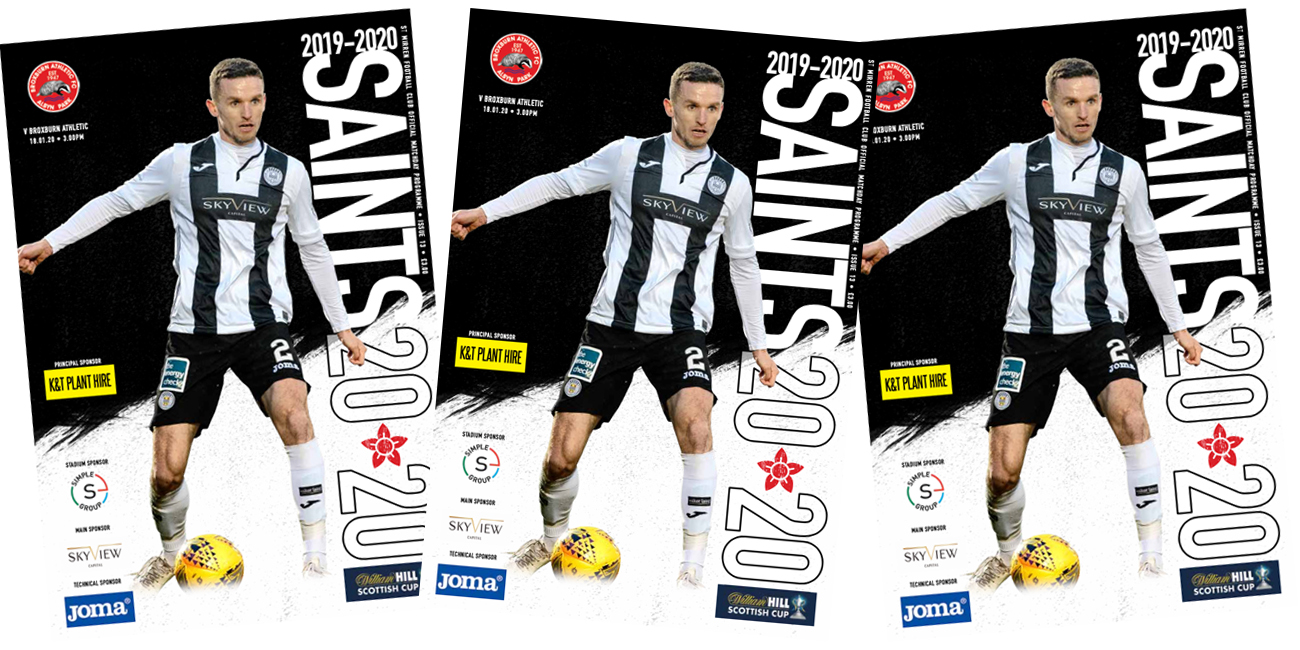 Programme: St Mirren v Broxburn Athletic (18th Jan)