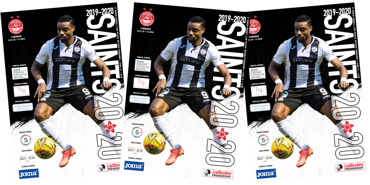 Programme: St Mirren v Aberdeen (26th Jan)