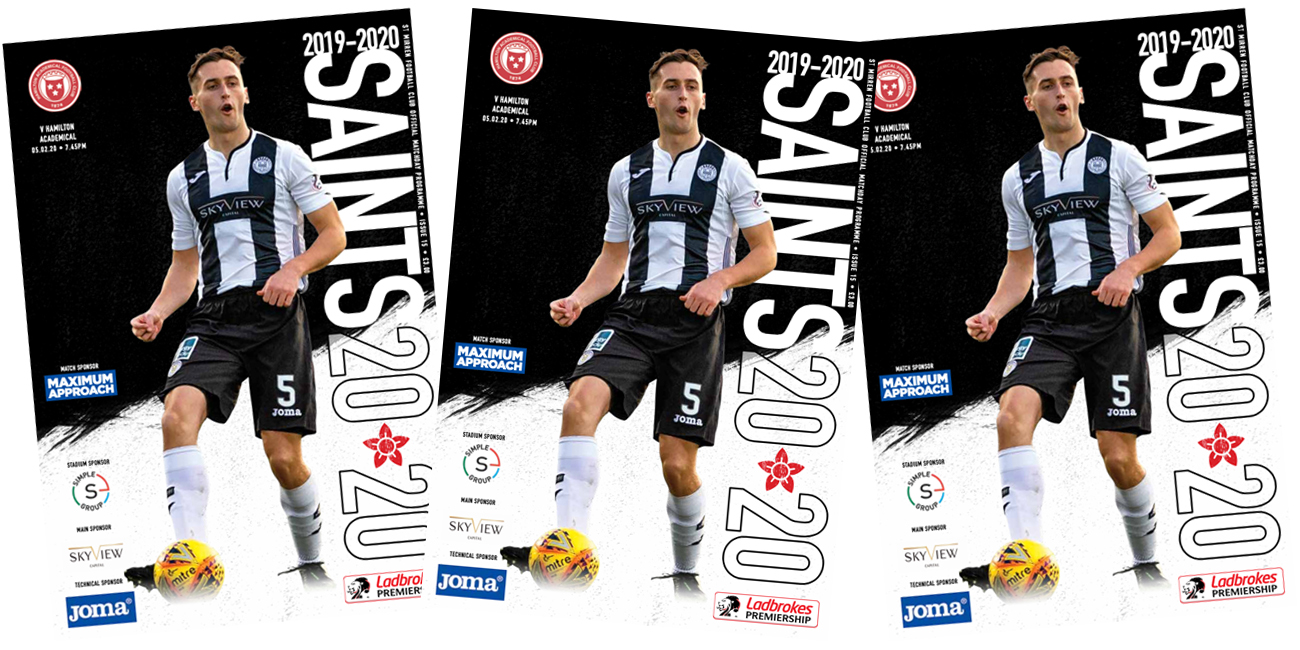 Programme: St Mirren v Hamilton (5th Feb)
