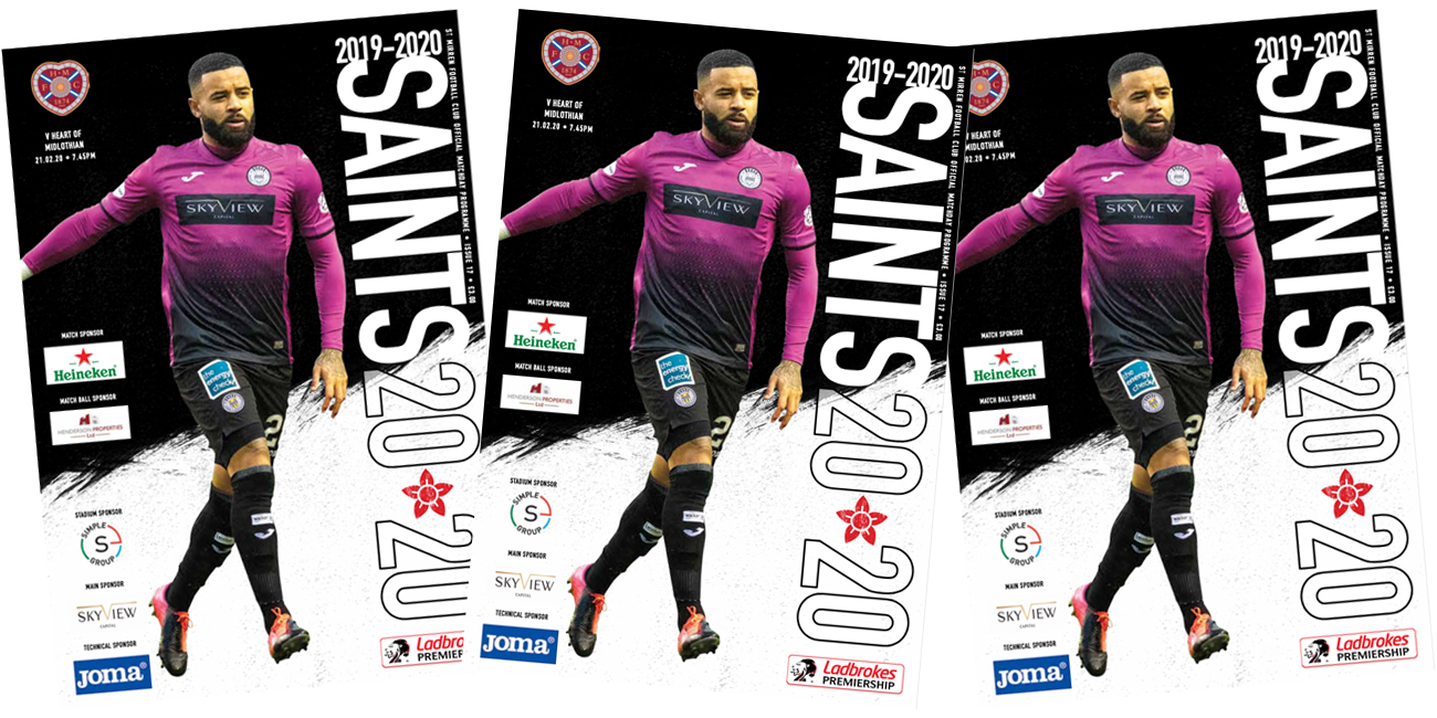 Programme: St Mirren v Hearts (11th Mar)