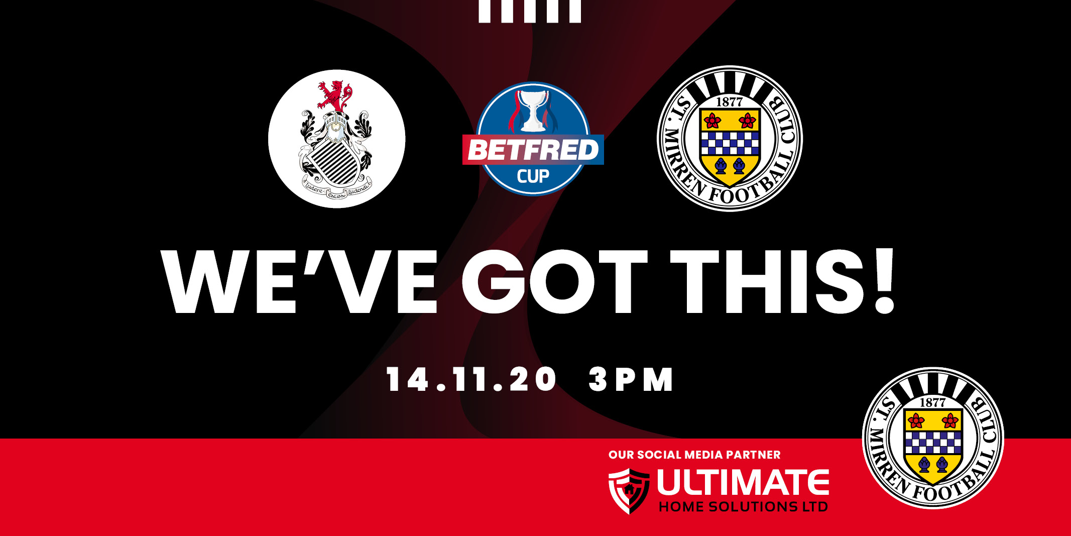 Up next: Queen's Park v St Mirren (14th Nov)