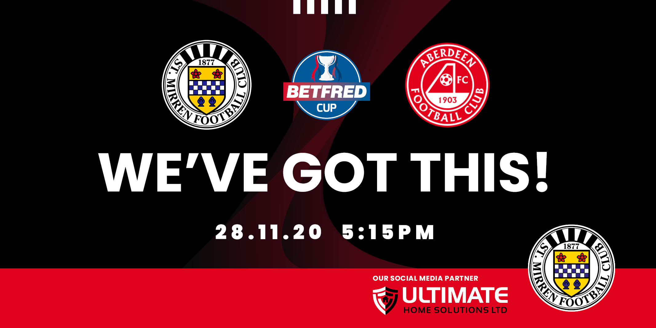 Up next: St Mirren v Aberdeen (28th Nov)