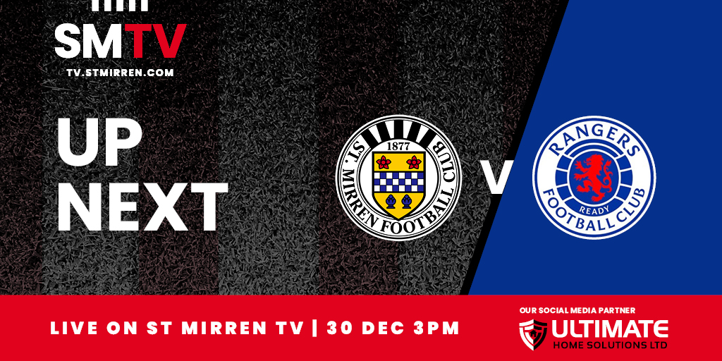 Up Next: St Mirren v Rangers (30th December)