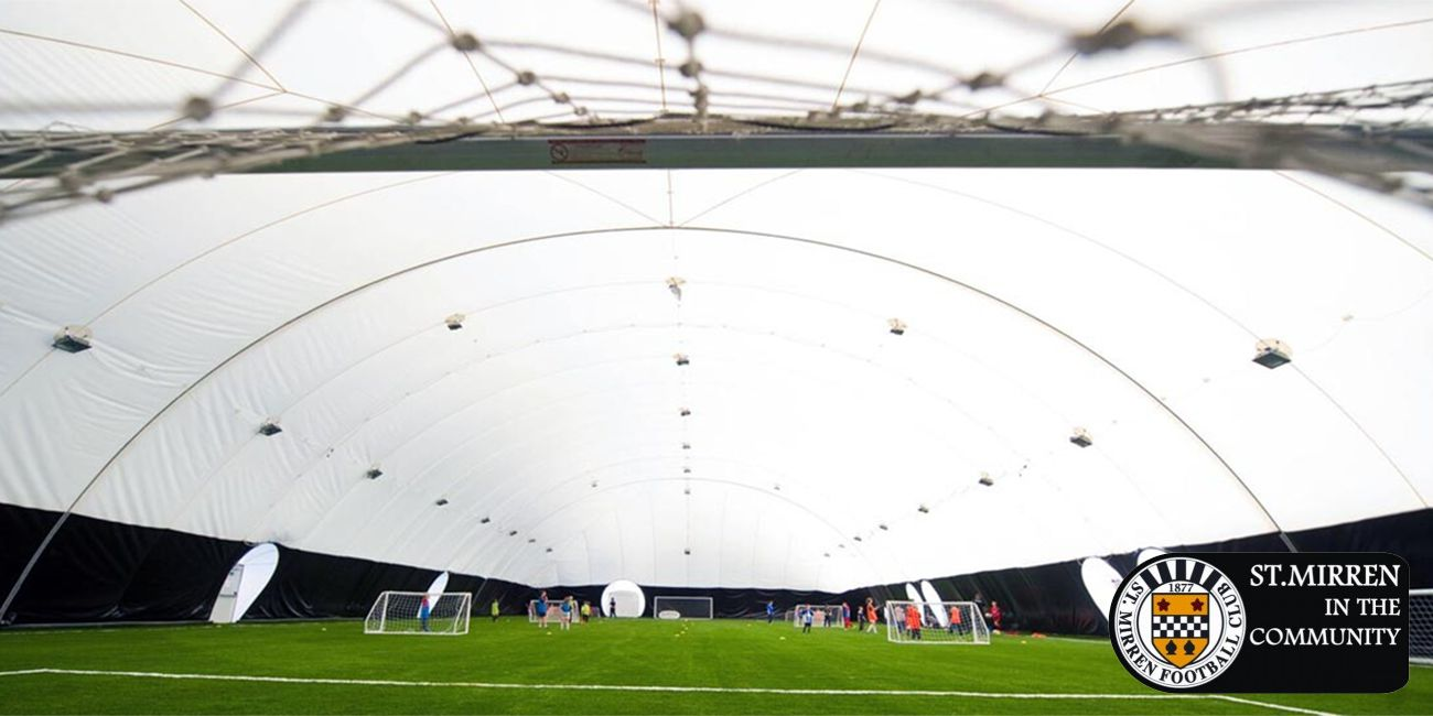St Mirren airdome down due to high winds